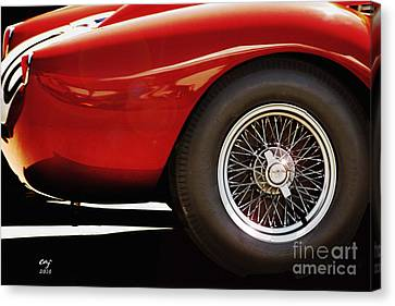 Ferrari 250 Tr Fender And  Wheel Canvas Print by Curt Johnson