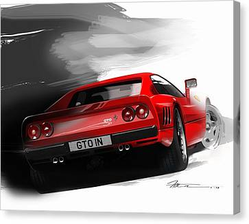 Ferrari 288 Gto Canvas Print by Fred Otene