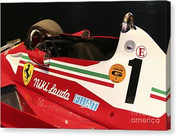 Ferrari 312 F-1 Cockpit Canvas Print by Curt Johnson