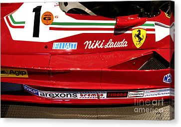 Ferrari 312 T2 F-1 Canvas Print by Curt Johnson