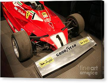 Ferrari 312 T2 F-1 Front Wing Canvas Print by Curt Johnson