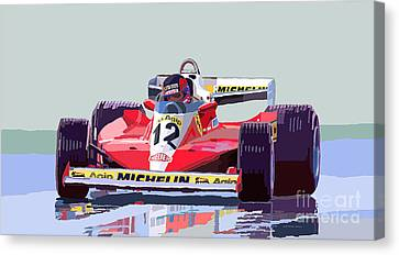 Ferrari 312 T3 1978 Canadian Gp Canvas Print by Yuriy  Shevchuk