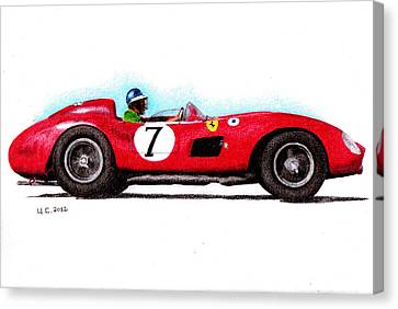 Ferrari 335s Mike Hawthorn 1957 Canvas Print by Ugo Capeto