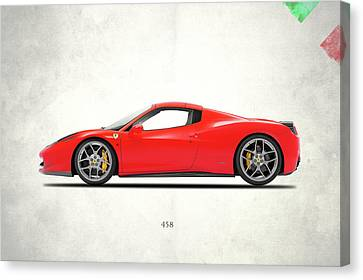 Ferrari 458 Italia Canvas Print by Mark Rogan