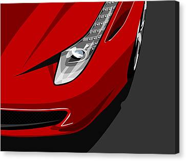Horsepower Canvas Print - Ferrari 458 Italia by Michael Tompsett