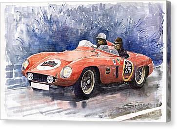 1953-1955 Ferrari 500 Mondial 1000 Miglia Canvas Print