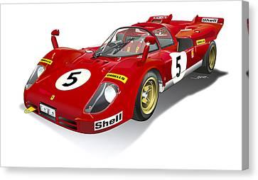 Ferrari 512 Illustration Canvas Print