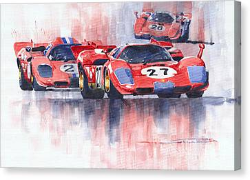 Ferrari 512 S 1970 24 Hours Of Daytona Canvas Print by Yuriy  Shevchuk