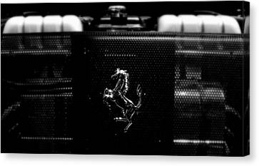 Ferrari Engine Grill Canvas Print
