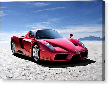 Horsepower Canvas Print - Ferrari Enzo by Douglas Pittman