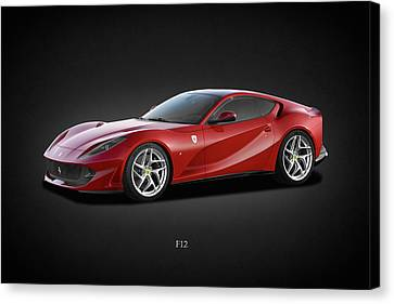 Motors Canvas Print - Ferrari F12 by Mark Rogan