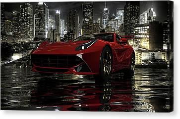 Canvas Print featuring the photograph Ferrari F12berlinetta by Louis Ferreira