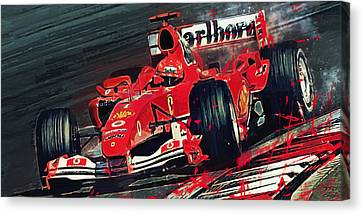 Ferrari - Michael Schumacher  Canvas Print by Afterdarkness
