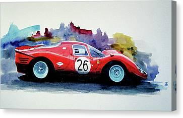 Ferrari P4 Watercolour Canvas Print