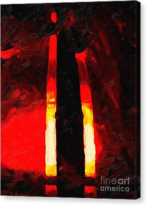 Ferrari Racing Abstract Canvas Print by Wingsdomain Art and Photography