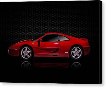 Ferrari Red - 355  F1 Berlinetto Canvas Print by Douglas Pittman