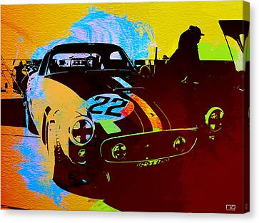 Ferrari Watercolor Canvas Print by Naxart Studio