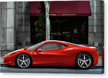Ferrari Wine Run Canvas Print by Peter Chilelli