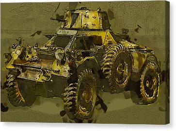 Ferret Scout Car Canvas Print by Roy Pedersen