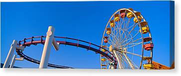 Ferris Wheel At Santa Monica Pier Canvas Print by Panoramic Images