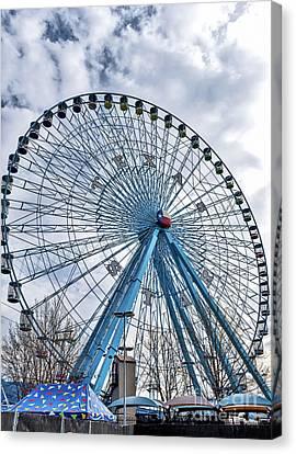 Ferris Wheel At Texas State Fair Canvas Print by Tod and Cynthia Grubbs