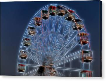 Ferris Wheel Glow Canvas Print by Terry DeLuco