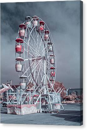 Canvas Print featuring the photograph Ferris Wheel In Morning by Greg Nyquist