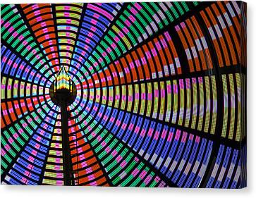 Farm Stand Canvas Print - Ferris Wheel Night Colors by Steven Bateson