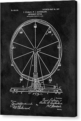 Ferris Wheel Patent Canvas Print by Dan Sproul
