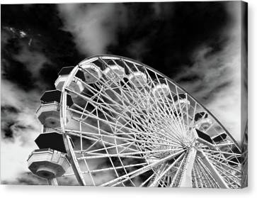 Ferris Wheel Santa Monica Pier Canvas Print by Bob LaForce