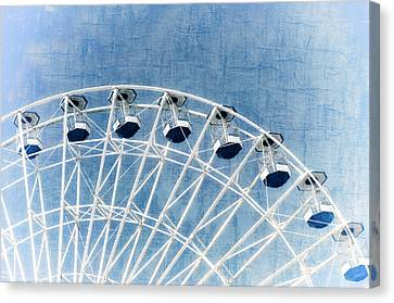 Wonder Wheel Series 1 Blue Canvas Print