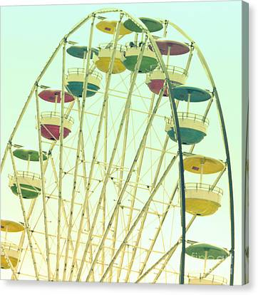Canvas Print featuring the digital art Ferris Wheel by Valerie Reeves