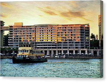 Ferry And The Toaster Canvas Print by Kaye Menner