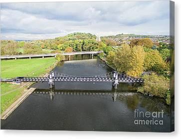 Ferry Bridge Burton On Trent Canvas Print by Steev Stamford