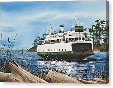 Pacific Northwest Ferry Canvas Print - Ferry Illahee by James Williamson