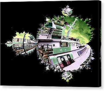 Ferry In Fractal Canvas Print