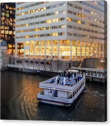 Canvas Print featuring the photograph Ferry Ride by Ron Dubin