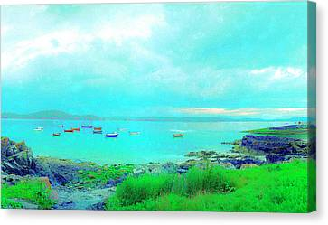 Ferry Wake Canvas Print by Jan W Faul