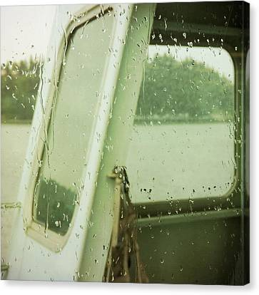 Canvas Print featuring the photograph Ferry Windows by Sally Banfill