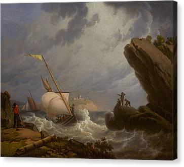 Ferryboat Canvas Print by Robert Salmon