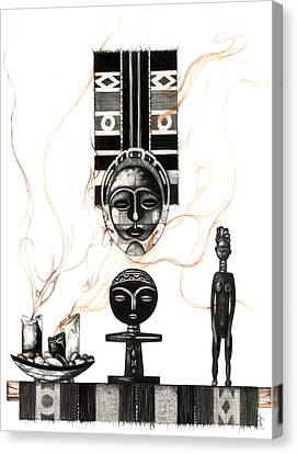 Black Artist Canvas Print - Fertility by Anthony Burks Sr