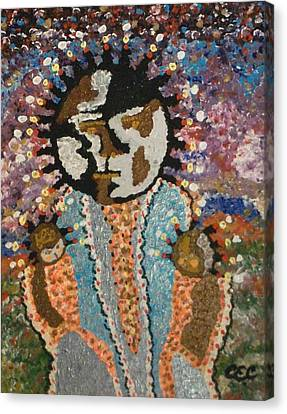 Canvas Print featuring the painting Fertility Goddess by Carolyn Cable