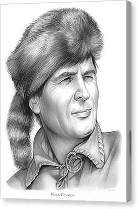 Fess Parker Canvas Print by Greg Joens