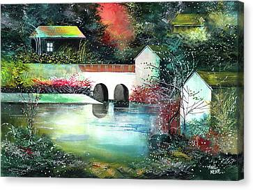 Canvas Print featuring the painting Festival Of Lights by Anil Nene
