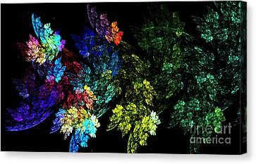 Festive Leaves Canvas Print