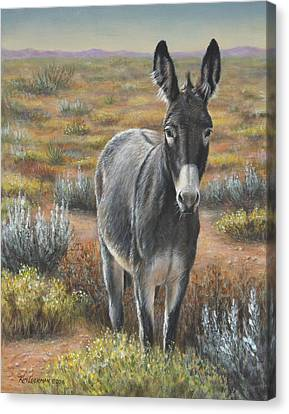 Canvas Print featuring the painting Festus by Kim Lockman