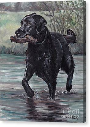 Fetch Canvas Print by Charlotte Yealey