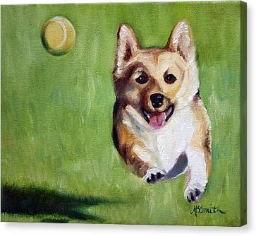 Fetch Canvas Print by Mary Sparrow