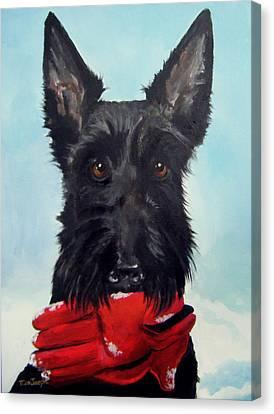 Fetch Canvas Print by Terry Cox Joseph