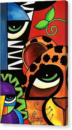 The Trio Canvas Print by Pam Reinke